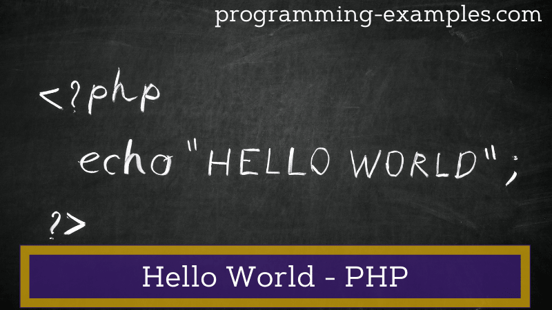 hello world php