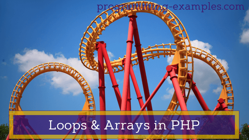 loops and arrays in PHP