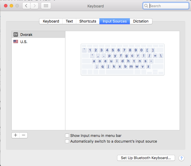get list of keyboards available on Mac
