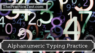 Number Typing Drills