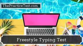 typing test ad image