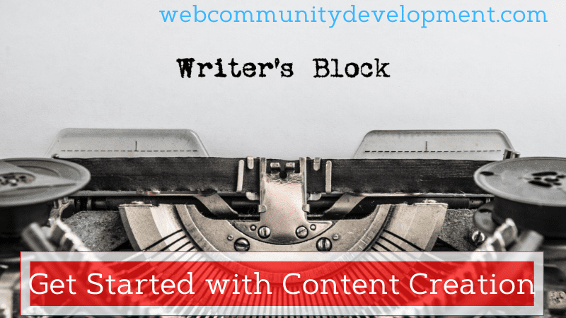 getting started with content creation